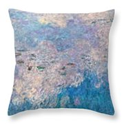 The Water Lilies  Throw Pillow