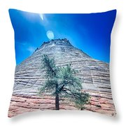 Zion Canyon National Park Utah Throw Pillow