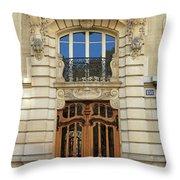 151 Rue De Grenelle Paris Throw Pillow