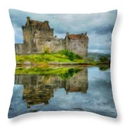 Painting Landscape Throw Pillow