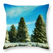 Nature Art Original Landscape Paintings Throw Pillow
