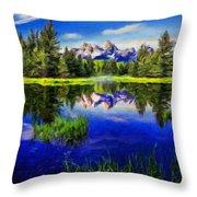 Nature Cool Landscape Throw Pillow