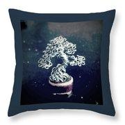 #153 Pea-sized Pot Micro Wire Tree Throw Pillow