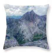 Landscape Nature Drawing Throw Pillow