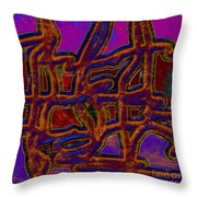 1554 Abstract Thought Throw Pillow