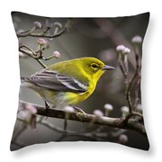 1574 - Pine Warbler Throw Pillow