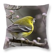 1575 - Pine Warbler Throw Pillow