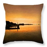 Landscape Painted Throw Pillow
