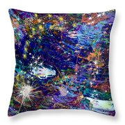 16-1 Blue Space Throw Pillow