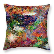 16-3 Red Space Throw Pillow