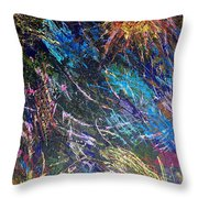16-4 Space Explosion Canvas Throw Pillow