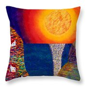 16-7 Village Sun Throw Pillow