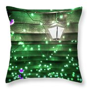 Christmas Light Bokeh At Daniel Stowe Gardens Belmont North Caro Throw Pillow