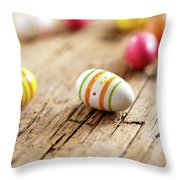 Easter Eggs Throw Pillow