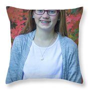 Family Pictures Throw Pillow