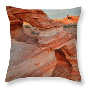First Light On Valley Of Fire Throw Pillow