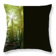 Forest Trail 2 Throw Pillow