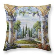 Italian Historical Villas Throw Pillow