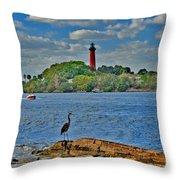 16- Jupiter Lighthouse Throw Pillow