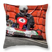 Karting Portugal Pacos De Ferreira Throw Pillow
