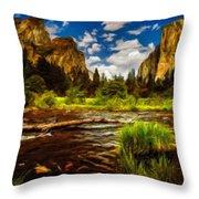 Landscape View Throw Pillow