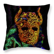 Mask. The Sons Of The Harpy. Fantasy. Throw Pillow