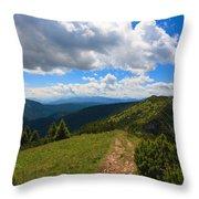 Mountain Panorama, Italy Throw Pillow