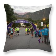 Pikes Peak Marathon And Ascent Throw Pillow