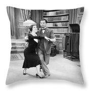 Silent Film Still: Dancing Throw Pillow by Granger