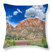 Zion Canyon National Park Utah Throw Pillow