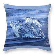 Ice On Beach Throw Pillow