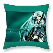 16291 1 Other Anime Vocaloid Hatsune Miku Vocaloid Hatsune Miku Throw Pillow