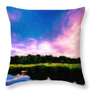 Oil Paintings Art Landscape Nature Throw Pillow