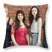 Fashion Shoot Throw Pillow
