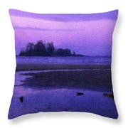 Nature Landscape Lighting Throw Pillow
