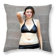 Classic Female Beauty. Throw Pillow
