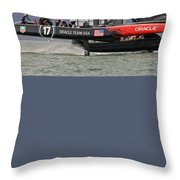 America's Cup San Francisco Throw Pillow by Steven Lapkin