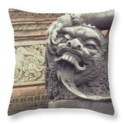 Bali Sculpture Throw Pillow