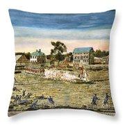 Battle Of Lexington, 1775 Throw Pillow
