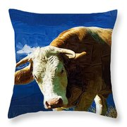 Bull Throw Pillow