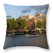 Canals Of Amsterdam Throw Pillow