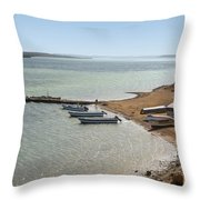 Colombia La Guajira Playa La Boquita  Throw Pillow