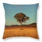 Country Agricultural And Farming Field. Throw Pillow
