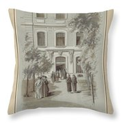 Drawn To Paris Throw Pillow