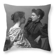 Helen Adams Keller Throw Pillow