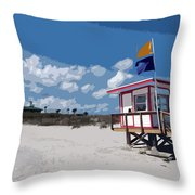 Jetty Park On Cape Canaveral In Florida Throw Pillow
