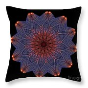 Kaleidoscope Image Created From Light Trails Throw Pillow