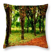 Landscape View Throw Pillow