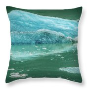 Magnificent Sawyer Glacier At The Tip Of Tracy Arm Fjord Throw Pillow
