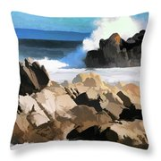17 Mile Drive Pacific Ocean  Throw Pillow